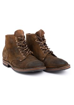 Viberg 1950 Service Boot Velours Brown Dainite Sole
