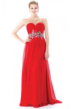 Sleeveless Natural Chiffon Sweetheart A-line Evening Dresses