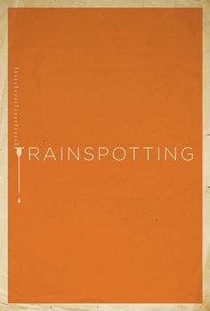 Trainspotting minimalist movie poster