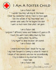 Diary Of A School Nurse: i am a foster child...