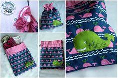 Oby's Handmade - Sacchetto per asilo -  Kindergarten-wechseln kleidung Sackerln