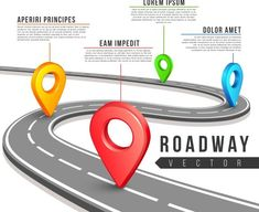 Street road map for business inf. Travel Infographics. $4.00