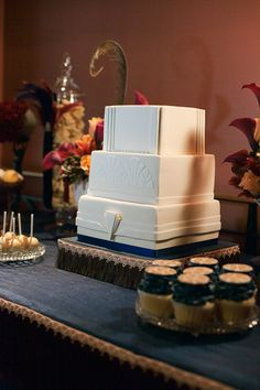 Art Deco Wedding Cake - Dessert Table styled by Style My Celebration