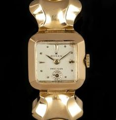 Rolex Vintage Precision Ladies 18k Yellow Gold Silver Dial