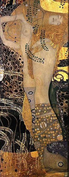 "Gustav Klimt  Austrian  1862 - 1918  ""Water Serpents"""