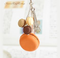 Miniature Macaron Bookmark, Macarons, Fall, Autumn, Orange, Chocolate, Brown, Cream, Sweets, Mini Bakery Pastry, Clay Food, Readers Reader Book lover Party Gift, Gifts, Books Book Accessories, Bookmarks, patisserie, macaroon, meringue, dessert, macaroons, miniature macarons, miniature food, Eiffel Tower, handmade bookmark, metal bookmark, kawaii bookmark, cute bookmark