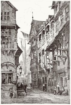 Frankfurt.    Samuel Prout, from Sketches by Samuel Prout, by Charles Holme, London, 1915.
