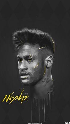 Neymar Jr w wersji rysunkowej Cristiano Ronaldo Wallpapers, Lionel Messi Wallpapers, Neymar Football, Messi Soccer, Messi Vs, Messi And Ronaldo, Football Images, Football Art, Basketball Art