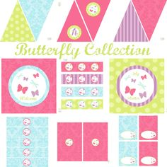 Butterfly Printable Decorations for Birthdays or by BeeAndDaisy $12.00