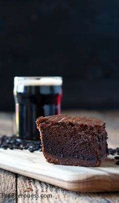The Beeroness - Chocolate Stout Mousse Brownies