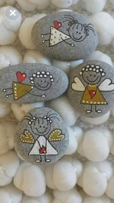 Pinselsteine  milled stones Steine Bemalen bemalen milled Pinselsteine Steine stones is part of Painted rocks - Rock Painting Patterns, Rock Painting Ideas Easy, Rock Painting Designs, Paint Designs, Stone Art Painting, Pebble Painting, Pebble Art, Diy Painting, Stone Crafts