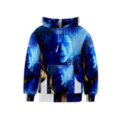 BLue Mask Kid s Pullover Hoodies by timelessartoncanvas