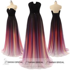 Gradient Long Plus Size Prom Formal Evening Dresses Celebrity Party Maxi Gowns #Unbranded #BallGown #Formal