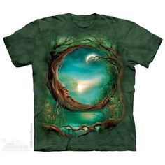 T-shirt | Moon Tree T-shirts  $19.99 This high quality T-shirt is hand dyed and printed in the United States. This is not an iron-on decal that will crack and flake off. The ink is deeply embedded in the fibers which guarantees a long lasting print design and extraordinary comfort.  100% Cotton Pre-shrunk