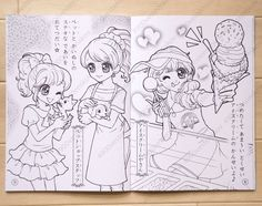 Beautiful Detail Japanese Girl Comic Coloring Book