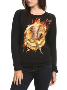 Must Have for the Catching Fire Premier : The Hunger Games: Catching Fire Mockingjay Girls Pullover Top