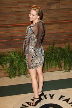 Jennifer Lawrence went commando to the Vanity Fair Oscar party.
