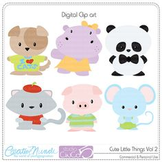 Buy 2 get 1 FREE - Cute Little Things vol 2  - Digital Clip Art , Commercial Use Clipart, Scrapbook, Printable - INSTANT DOWNLOAD via Etsy
