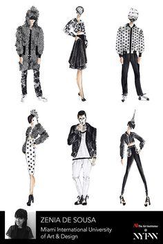 Zenia DeSousa - Collection Board // Art Institutes New York Fashion Week // AW '16