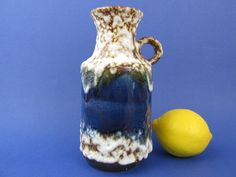 Vintage Fat Lava vase - U-Keramik / Vintage Fat Lava Vase von Uebelaker | Mid century / West German Pottery von ShabbRockRepublic auf Etsy