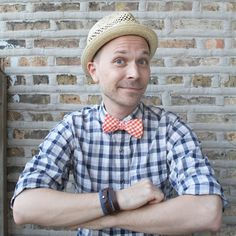 A little gingham on check for a fun summer ensemble. The Goorin Brothers hat is a perfect topper on a sunny day.