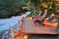 Wood Deck Over Stream - Beautiful!