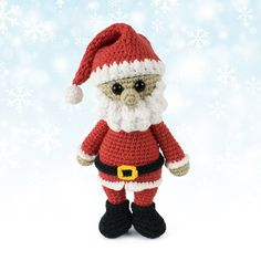 Cuddle Me Santa Claus crochet pattern : Winter holidays is the best time to hang out with cute amigurumi Santa Claus. Create this little guy with our free Christmas Santa Claus Crochet Pattern. Christmas Bunny, Crochet Christmas Hats, Crochet Santa, Christmas Crochet Patterns, Holiday Crochet, Crochet Bunny, Noel Christmas, Crochet Patterns Amigurumi, Cute Crochet