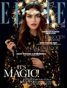 cover Elle magazine make-up by Sandra govers Elle Magazine, Magazine Mode, Cool Magazine, Magazine Editorial, Editorial Fashion, Portrait Editorial, Star Magazine, Ideas Magazine, Magazine Layouts