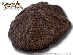 Berretto irlandese 8 spicchi Hanna Hats Connery Malone tweed Cap   hanna-8pcs-tweed-marrone  - €45.00   Cappelleria Melegari 7b8481c14a42
