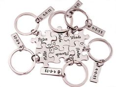 Bridesmaid Gift Puzzle Piece Set Hand Stamped by Stampressions