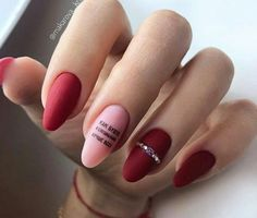 15 Stunning Red Manicure Almond Nails Art Design For Fashion Woman Page 3 of 15 Matt Nail Design Almond Nail Art, Almond Nails, Red Manicure, Red Nails, Manicure Ideas, Easter Nail Designs, Nail Art Designs, Cute Nails, Pretty Nails