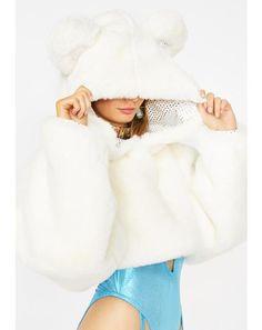98141f076280f Bear Necessities Cropped Hoodie  dollskill  clubexx  snowglobe  winter   snow  fuzzy