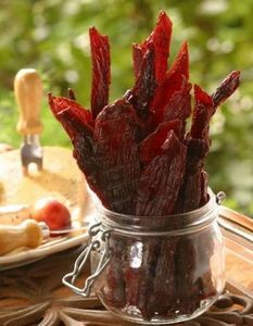 If you& sick of venison burgers and are looking for a chewy, flavorful alternative that will last longer, then venison jerky is the way to go. Venison Burgers, Beef Jerky, Deer Jerky Recipe Teriyaki, Deer Jerky Recipe In Oven, Venison Meat, Charcuterie, Deer Recipes, Game Recipes, Pizza