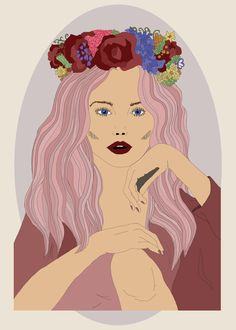 Flower Crown by Victoria Illustrates copywright 2013  #fashionillustration #illustration #flowercrown