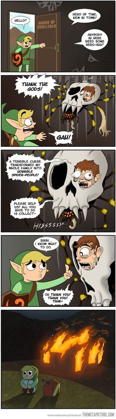 Legend of Zelda: Ocarina of Nightmares    ..... Apparently I wasn't the only kid freaked out by skulltulla