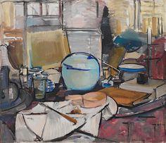 Collection Online | Piet Mondrian. Still Life with Gingerpot I (Stilleven met gemberpot I). 1911–12 - Guggenheim Museum