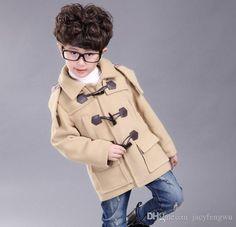 1cf5dad1560d Baby Boys Winter Jackets Padded Coats Outwear Hooded Warm Coats Outfits  Child Jacket Children Horn Button Woolen Coat Clothes D0043 Kids Fur Coat  Girls ...