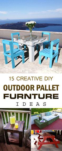 15 Creative DIY Outdoor Pallet Furniture Ideas →