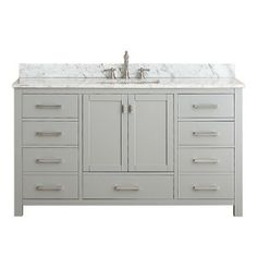 allen roth Roveland Gray Undermount Single Sink Birch Bathroom