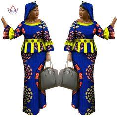 2017 Spring skirt set african designed clothing traditional bazin print Bazin Riche plus size skirt set evening dress African Dresses For Women, African Attire, African Wear, African Fashion Dresses, African Women, African Print Skirt, African Print Clothing, African Print Dresses, African Print Fashion