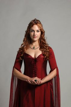 Hürrem Sultan from Magnificent Century in a gorgeous red dress