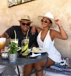 Romantic getaway: Adrienne and Israel are enjoying a European vacation, and have been sharing the jealousy-inducing social media images over the past week