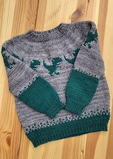 Ravelry: Dancing T-Rex sweater pattern by Natalie V Baby Boy Knitting Patterns, Knitting Designs, Baby Knitting, Dinosaur Sweater, Knit World, Knitted Baby Clothes, Baby Knits, Baby Boy Sweater, Boys Sweaters