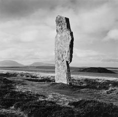 Single stone, Ring of Brogar, Orkney, 1979 - Fay Godwin, ©The British Library Board Painting Frames, Painting Prints, Wall Art Prints, Frames On Wall, Framed Wall Art, Watercolor On Wood, Black And White Landscape, Wild Nature, Leonid Afremov Paintings