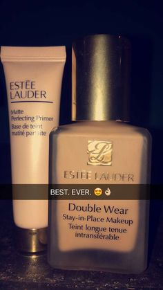 Best primer/foundation Ive come across!! Kinda pricy but definitely WORTH IT! Estée Lauder best makeup products - http://amzn.to/2jpvOwg