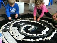This is a great project for the preschool through school age children to do. This project would allow the children to use fine motor, gross motor and imagination and creativity to create any fun design.  This would also allow the children to develop their social skills by working together to create their design.