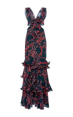 Poppea Sabina Embellished Tie Dress by JOHANNA ORTIZ for Preorder on Moda Operandi