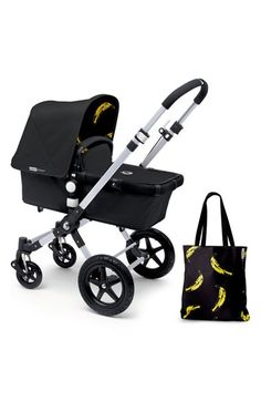 Infant Bugaboo 'Bananas - Andy Warhol' Tailored Fabric Set - Black