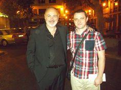 Con Rafael Maluenda, director del Festival Internacional Cinema Jove de Valencia.