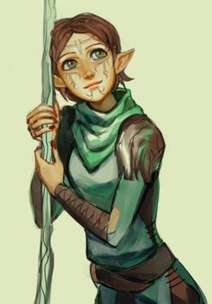 I just realized that we met Merrill in the first Dragon Age game. The clan you are apart of if you're Dalish is the same clan you meet in DA2 for Flemeth/Mythal. And in DAO, Merrill was not like she was in DA2, meaning that blood magic and the broken eluvian literally changed her mind...which makes me want to never stop hugging this little daisy
